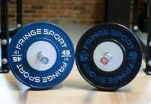Fringe Sport Competition Bumper Plates Garage Gym Lab