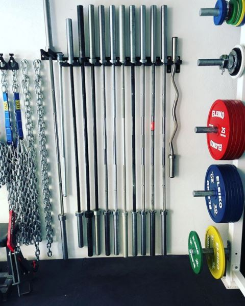 White Box Bars Powerlifting Garage Gym Lab