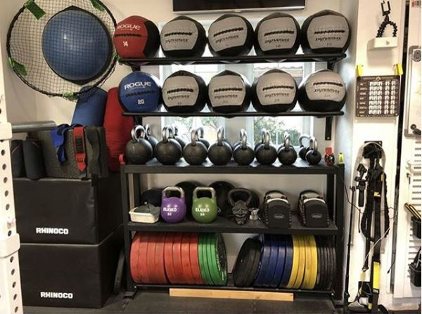White Box Storage Powerlifting Garage Gym Lab