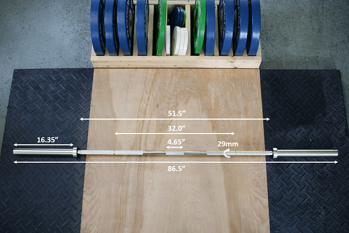 Kabuki Strength Power Bar Specs Garage Gym Lab