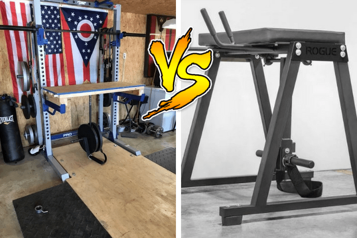 Diy reverse hyper table top edition garage gym lab