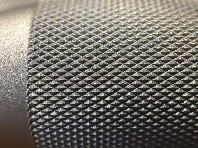 American Barbell Mammoth Bar - Closeup Knurl Garage Gym Lab