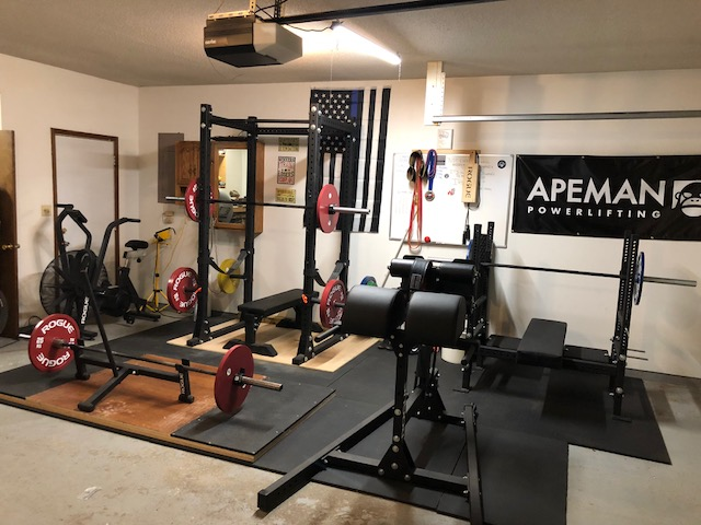 Step into this swat officers powerlifting garage gym garage gym lab