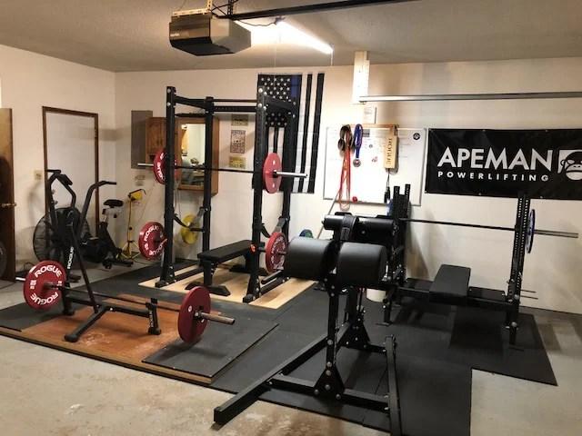 Step into this swat officers powerlifting garage gym garage gym lab