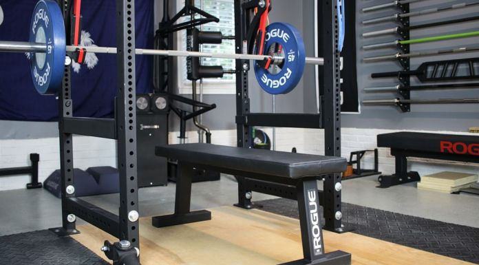 Rogue Flat Bench Cover Photo Garage Gym Lab