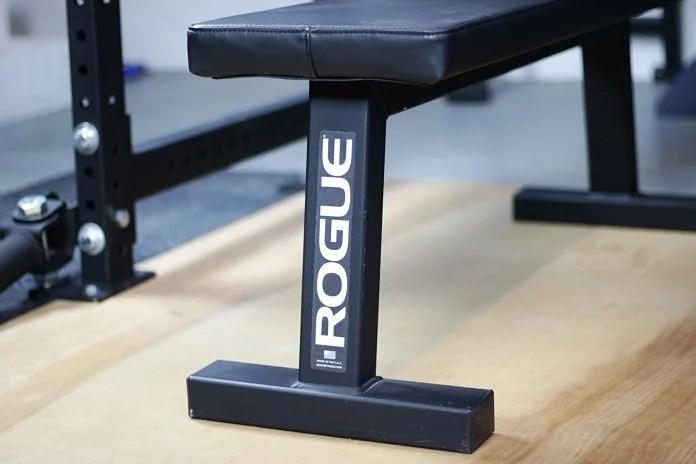 Rogue Flat Bench Front Garage Gym Lab