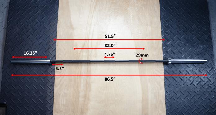 Rep Fitness PowerSpeed Bar Measurements Garage Gym Lab