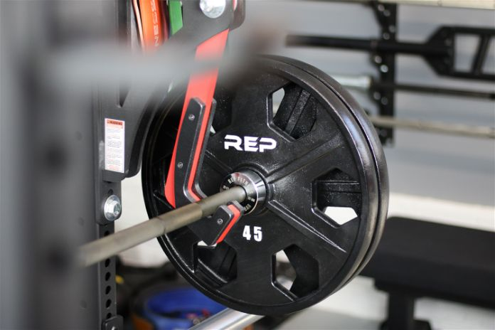 Rep Fitness PowerSpeed Bar Racked Garage Gym Lab