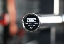 Rep Fitness PowerSpeed Bar Garage Gym Lab