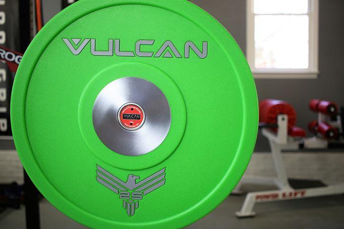 Vulcan Bumper Plates Urethane 25 lb - Garage Gym Lab