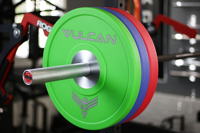 Vulcan Bumper Plates Urethane Loaded 2 - Garage Gym Lab