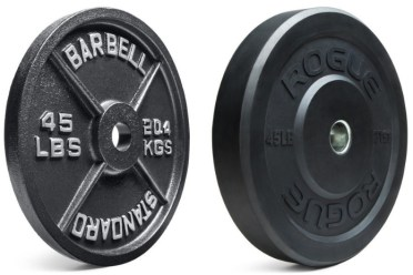 Iron vs Bumper Plate Garage Gym Lab