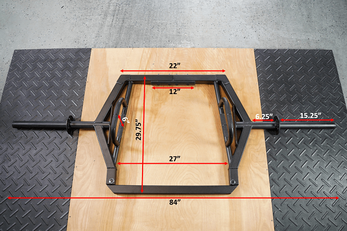 Intek ModF Bar - Measurements 3 - Garage Gym Lab