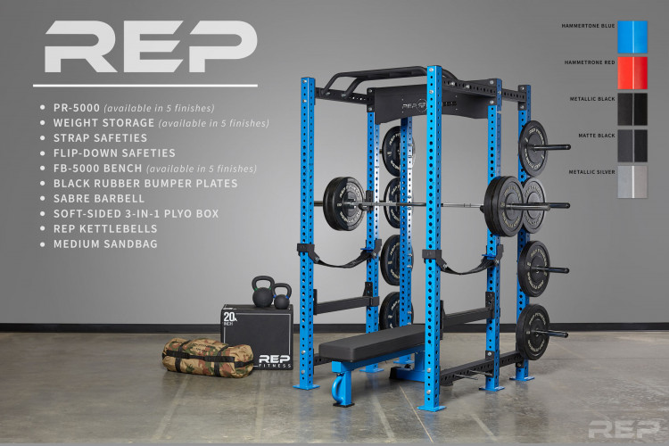 Rep fitness pr power rack color release garage gym lab