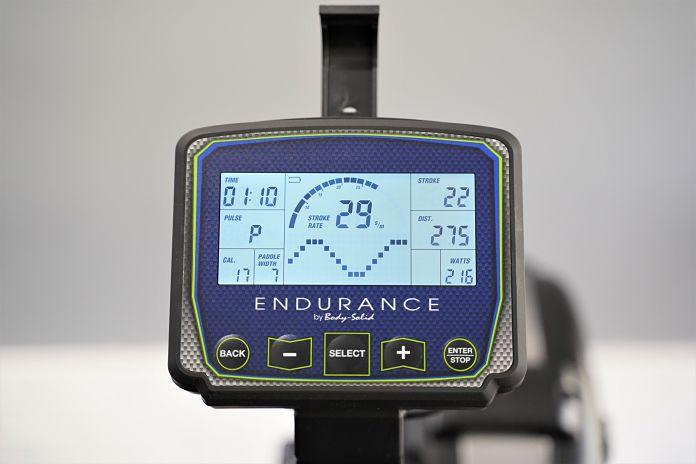 Body Solid R300 Rower - Monitor - Garage Gym Lab