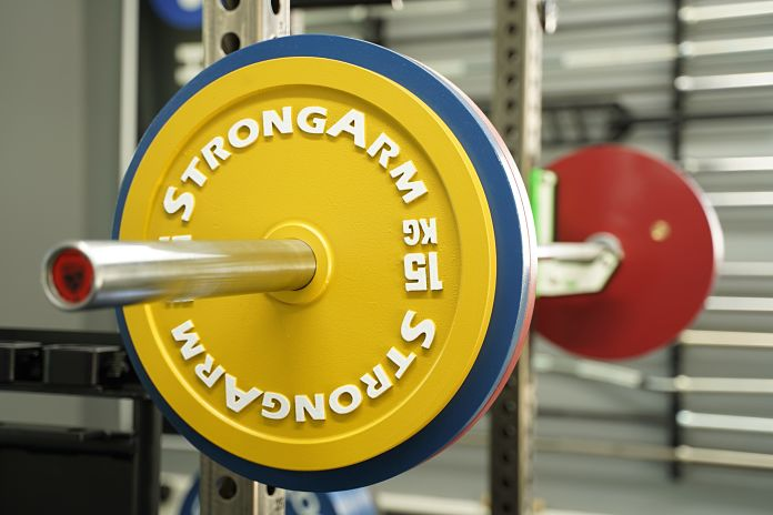 StrongArm Sport Calibrated Plate - Loaded Squat - Garage Gym Lab