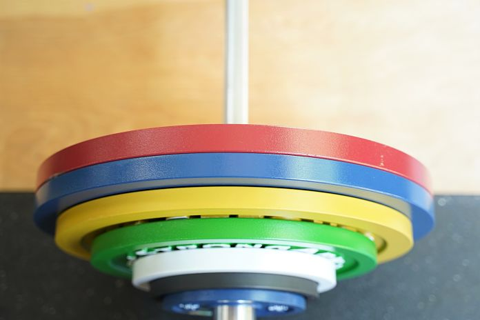 StrongArm Sport Calibrated Plate - Top View - Garage Gym Lab