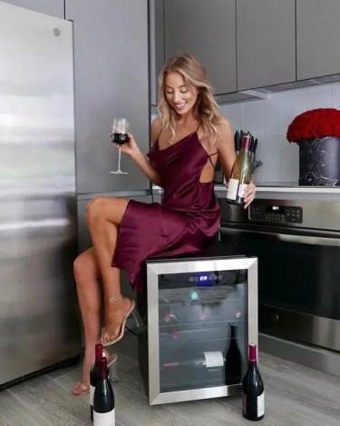 Keep wine bottles in a wine cooler fridge