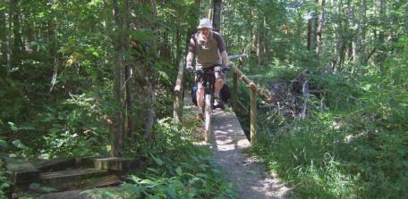 Riding a narrow bridge