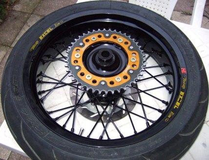 Yamaha WR250R Supermoto Radsatz: Hinterrad, Supersprox Stealth Kettenblatt