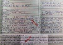 Eintragungen in die Fahrzeugpapiere