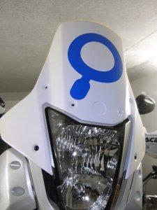 Yamaha XT660Z Tenere Windschild in weiß lackiert