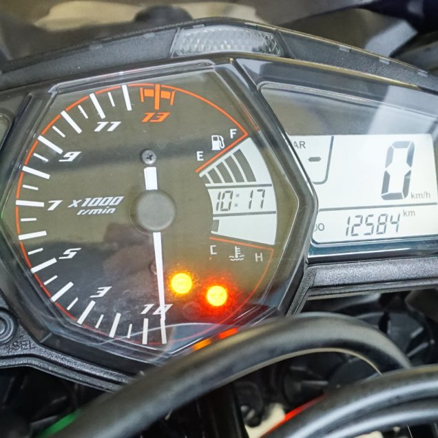 Yamaha YZF-R3 Cockpit vor dem Verkauf