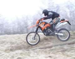 Das möglicherweise einzige existierende Foto meiner ersten KTM LC4 620 Competition 1999