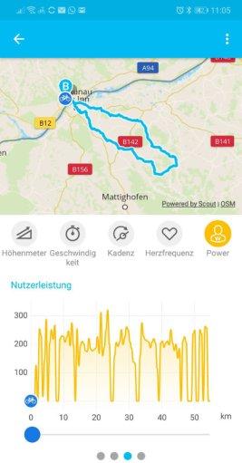 Bosch E-Bike Connect App - Leistungsaufzeichnung