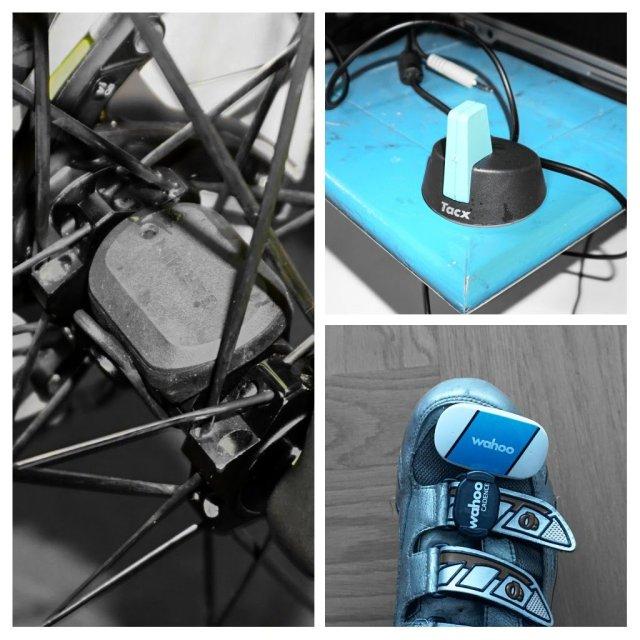 ANT+ (und teils Bluetooth) Sensorpaket: Geschwindigkeit, Trittfrequenz, Pulsfrequenz, sowie ANT+ Antenne für USB