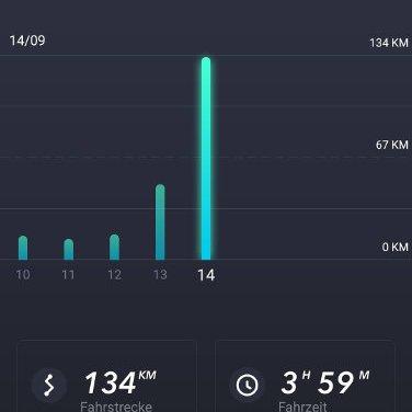 Niu Statistik Bürofahrt (Screenshot NIU App)