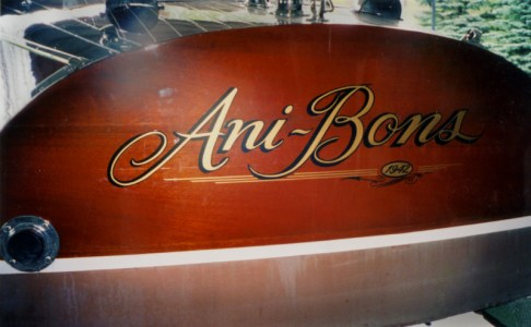 Bendi hand lettered this wooden run-a-bout.