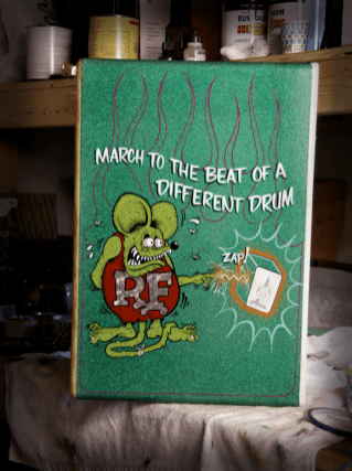 A little Rat Fink and Metal Flake