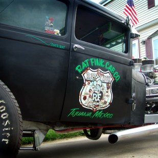 Pat is one cool lady with a number of very cool rides. She's also a big Rat Fink Nut!!