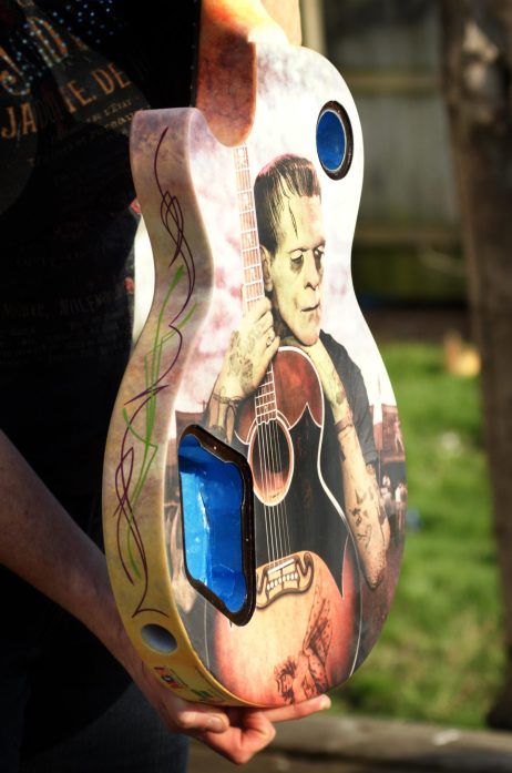 """Robert asked me to lay a couple lines on the """"Franky Goes to Hollywood"""" guitar. Very cool piece and I was happy to be a small part of it!"""