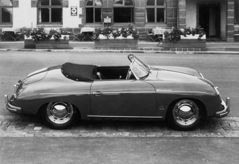 Porsche Typ 356 Speedster, Modelljahr 1955: Erster Speedster Schriftzug