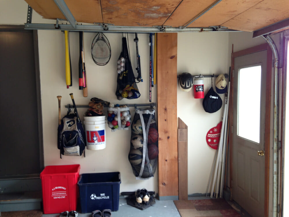 Garage organization and shelving system gallery