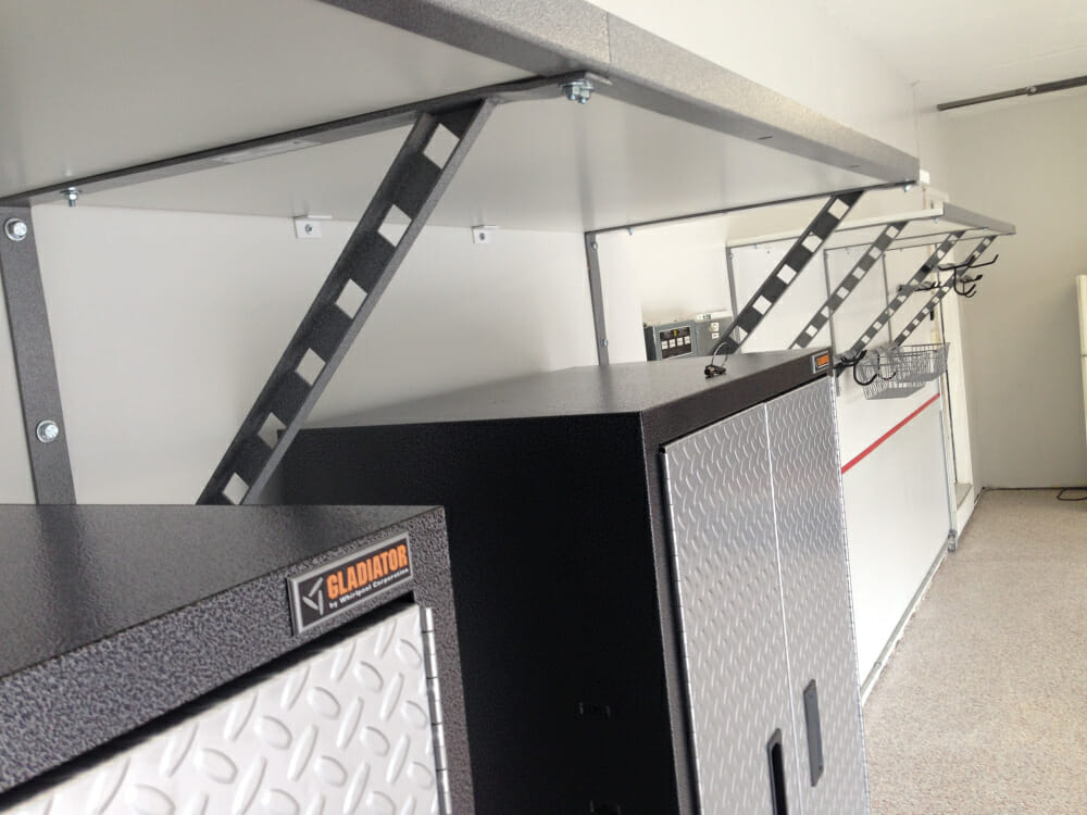 Gladiator garage cabinets installed for the same price as the big