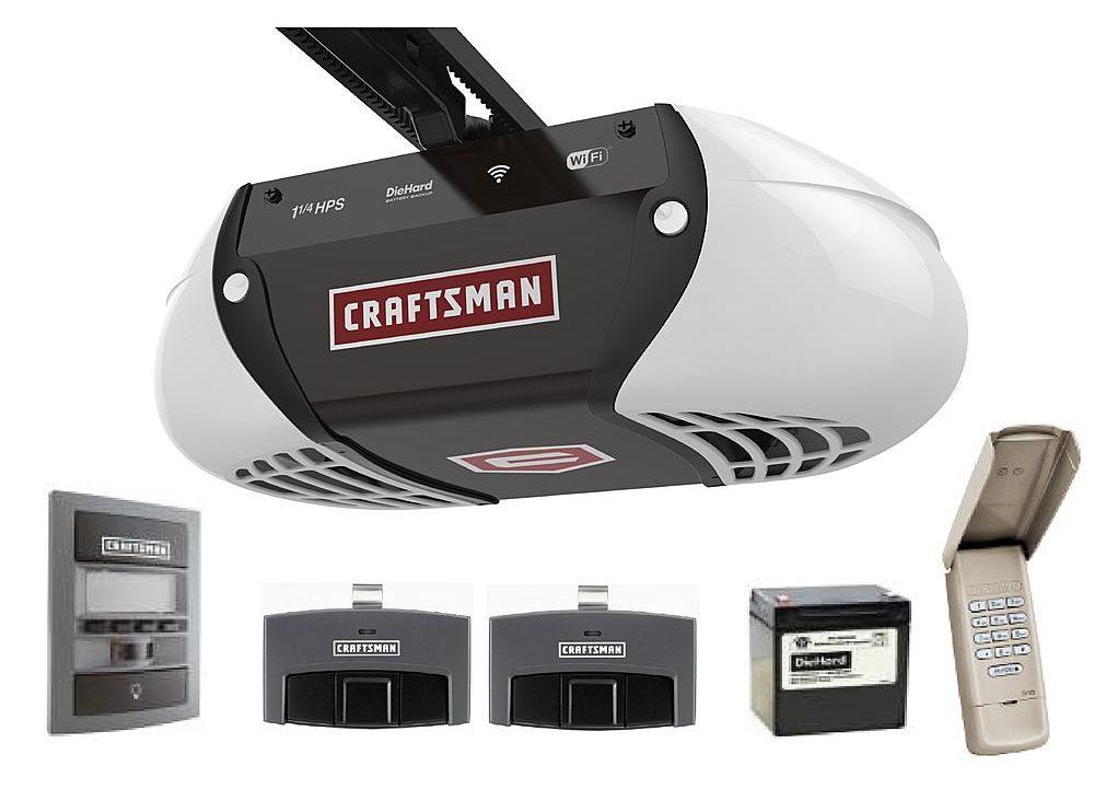 wifi garage door openerThe New Craftsman WiFi Garage Door Opener  GarageSpot
