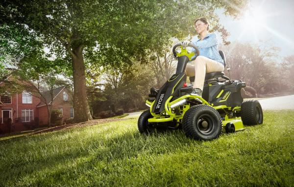 A Legit Electric Riding Lawnmower