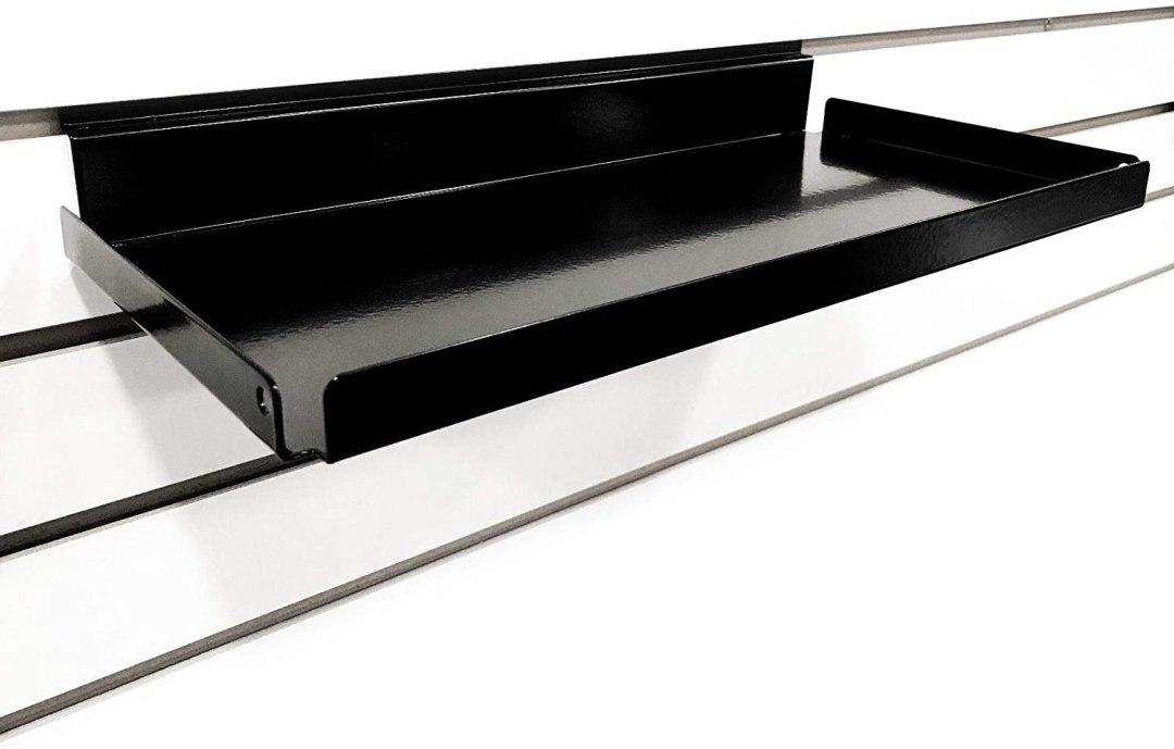 metal slatwall shelves