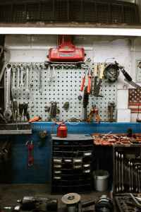 pegboard garage wall storage