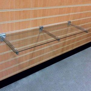 slatwall glass shelves