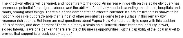 The Pros and Cons of the PNG LNG Project