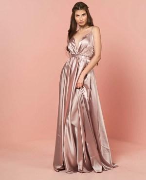 Vestido para dama de honor satinado
