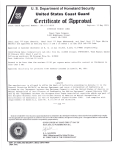 USCG Certificate of Approval