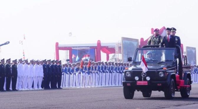 HUT Ke-74 TNI, Presiden: Ideologi, Teknologi & Alutsista Jadi Benteng NKRI
