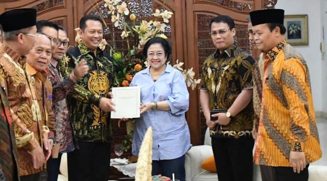 Bertemu Megawati, Pimpinan MPR RI Bahas Rekomendasi Tentang Amandemen