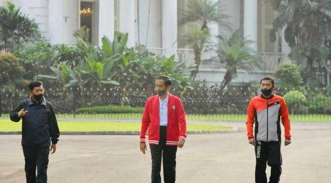 Berolahraga di Istana Bogor, Presiden Jokowi Ajak Masyarakat Jaga Kesehatan