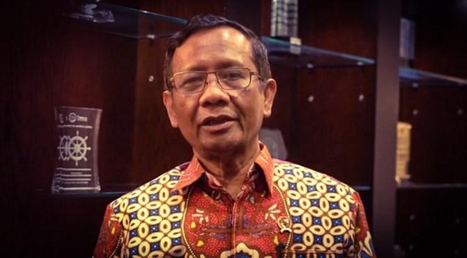 KPK Tangkap Menteri Eddy, Mahfud MD : Tegakkan Hukum Tanpa Pandang Bulu